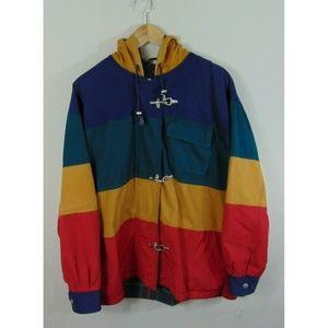 Vintage Laurice Women M Color Block Flannel Jacket